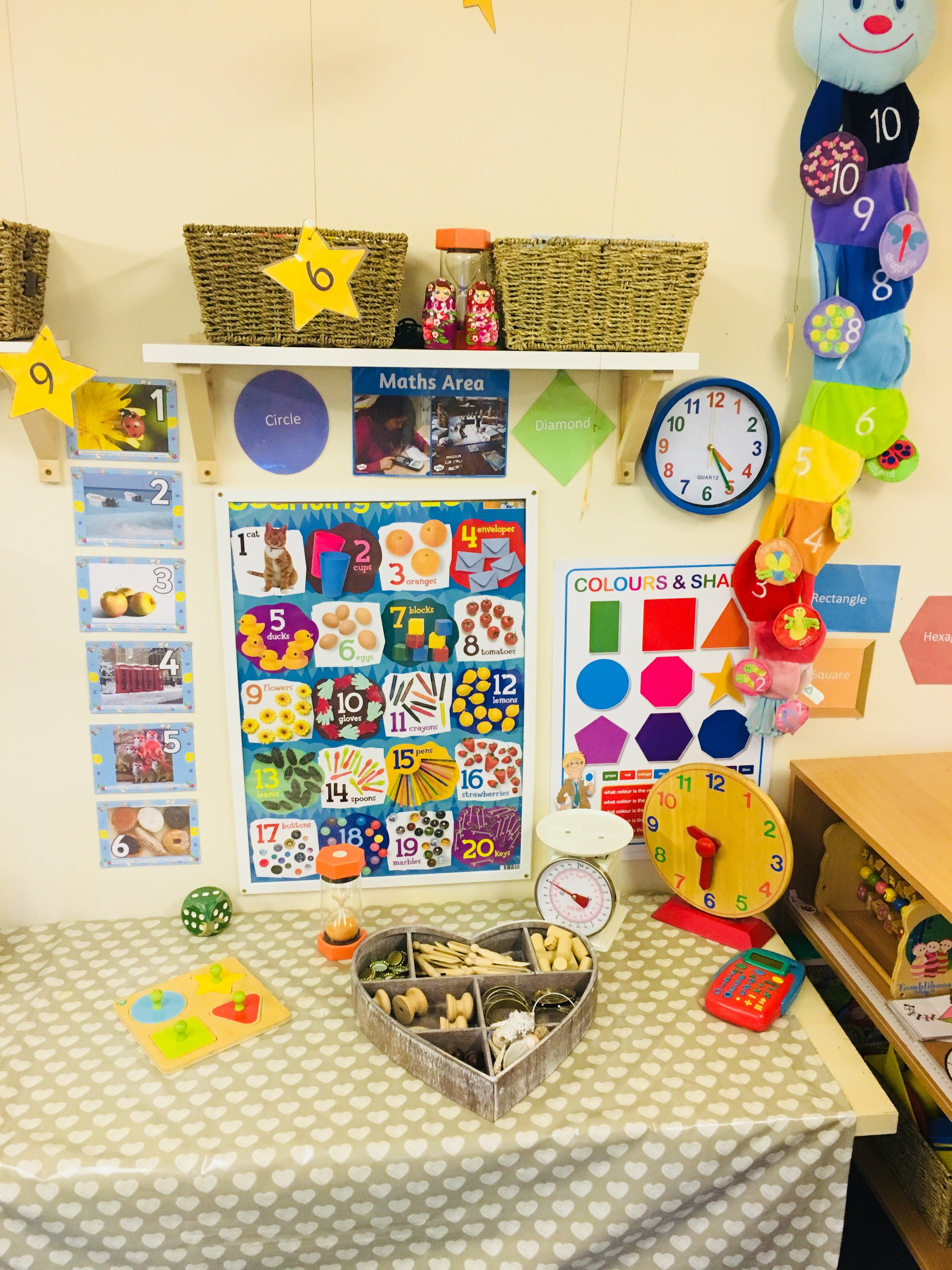 The pre-school department of Little Fingers Day Nursery in Darenth, Kent is organised around the EYFC document.